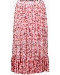 Baum und Pferdgarten Selda Midi Skirt In Cream / Red Ditsy Floral