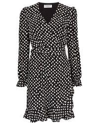 Essentiel Antwerp Antwerp Vodolfo Wrap Dress - Black Polka Dot