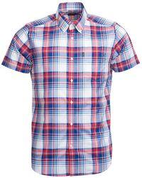 Barbour - Camisa Madras 3 Tailored Roja - Lyst