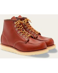 Red Wing Zapatos Moc Toe 8131 Oro Russet - Rojo