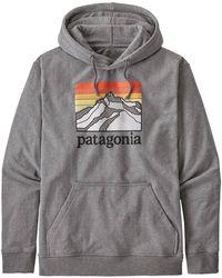 Patagonia Ms Line Logo Ridge Uprisal Hoody Gravel Heather - Gris