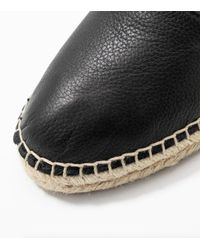 SELECTED Leather Espadrilles - Black