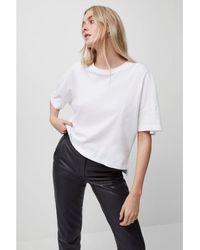 French Connection Camiseta algodón orgánico SS T Shirt Blanco