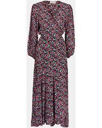 Essentiel Antwerp Vip Long Dress In Black Pink - Multicolour