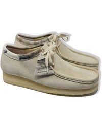 Clarks Wallabee Suede Shoes Off White Interés - Multicolor