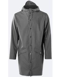 Rains Long Jacket Charcoal - Gray