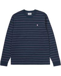 Carhartt Space And Malaga Long Sleeves Denton T Shirt - Blue
