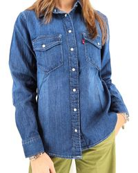 Levi's Women's Essential Western Shirt - Blue