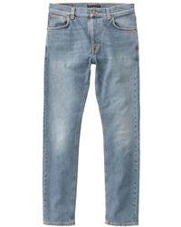 Nudie Jeans Mid Stone Comfort - Blau