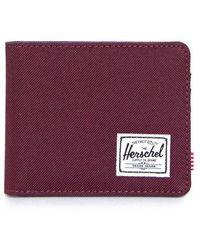 Herschel Supply Co. Roy+ Bi-fold Wallet (wine/navy) - Multicolour