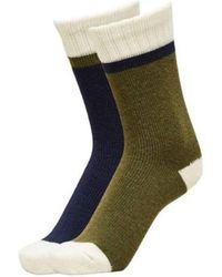 SELECTED Https://www.trouva.com/it/products/selected-homme-blue-sky-captain-wool-socks-two-pack - Verde