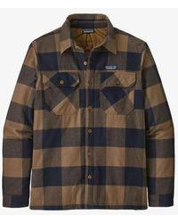 Patagonia Camisa franela Ms Fjord algodón orgánico con aislamiento Ms Mountain Plaid Timber Brown - Marrón