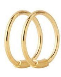 Maria Black Orecchino a cerchio Basic 8   Coppia   Oro 18 carati - Metallizzato