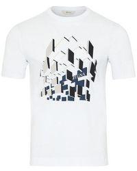 Z Zegna Camiseta de Algodón Blanca - Blanco