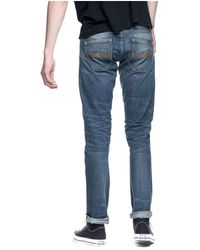 Nudie Jeans L32 Grim Tim Nathan Replica Jeans - Blu