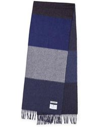 Norse Projects X Begg Co Scarf Navy Multi Stripe - Azul