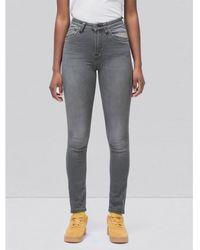 Nudie Jeans Hightop Tilde Jeans in grauer Waschung