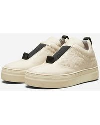 SELECTED Sandshell Leather Anna Slip Ons - Natural