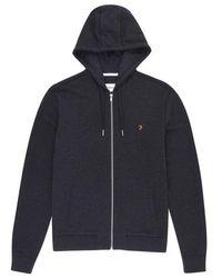 Farah Kyle Hooded Sweatshirt - Marl - Black