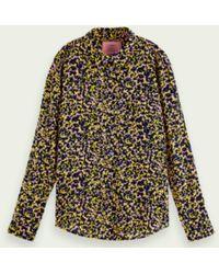 Maison Scotch Camisa manga larga impresa - Multicolor