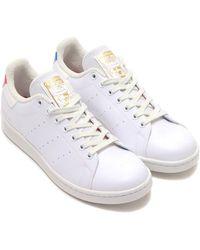adidas Stan Smith Primegreen Zapatillas Cloud White, Blue & Scarlet - Blanco