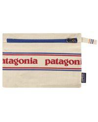 Patagonia Reißverschlusstasche Park Stripe Graphic Bleached Stone - Mehrfarbig