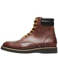 SELECTED Teo Leather Boot - Brown
