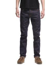Nudie Jeans Jean Homme 112558L32 Dude Dan Dry Cool Rigid Coton Bio - Bleu