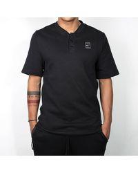 Nike Black Black And White Court Polo T Shirt