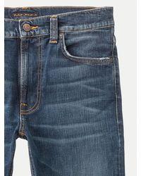 Nudie Jeans Jeans denim da uomo magri in cotone organico blu scuro