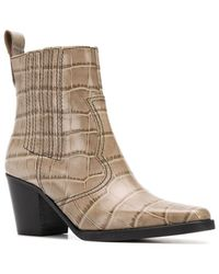 Ganni Western Ankle Boot - Natur