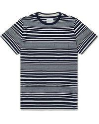 Albam Camiseta de manga corta a rayas - Azul