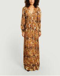 Ba&sh Vestido largo de manga larga de cuarzo - Multicolor