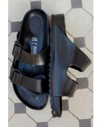 Birkenstock - Arizona Eva Black Sandals - Lyst