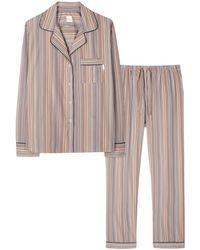 Paul Smith Signature Stripe Cotton Pyjama Set Multicoloured