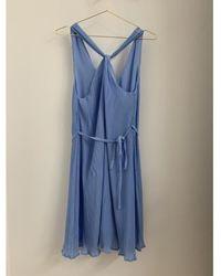 Minimum Melly Blue Grecian Mini Dress