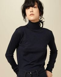Sessun Canela Polo Neck Jumper - Blue