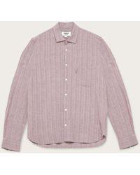 YMC Curtis Shirt Multi Mini Check - Rot
