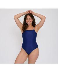 Organic Basics Re Swim One Piece Navy - Blau