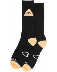 Poler Stuff Cyclops Icon Socks Peach - Black