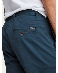 Scotch & Soda Pantalones cortos chinos de acero de Stuart - Azul