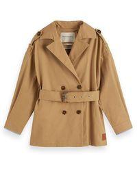 Scotch & Soda Trench-coat plus court - Multicolore