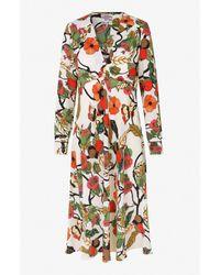 Baum und Pferdgarten Vestido Aericka con rama floral crema - Multicolor