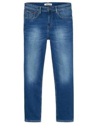 Tommy Hilfiger Ryan Relaxed Straight Jeans Wilson Mid Blue Stretch