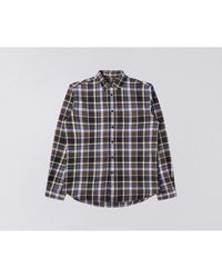 Edwin Don Mid Flannel Brushed Shirt Java Marron - Multicolore