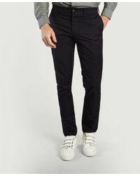 Carhartt Pantaloni chino Sid blu navy - Nero
