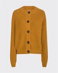 Minimum Affie Cotton Cardigan Mustard - Multicolour