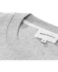 Norse Projects Gemischtes hellgraues Johannes Block Stripe T-Shirt