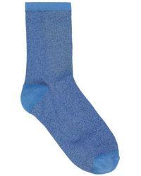 Becksöndergaard Light Blue Dina Solid Coll Socks
