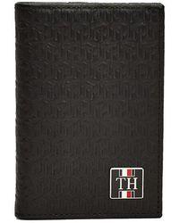 Tommy Hilfiger Portacarte in pelle con monogramma nero